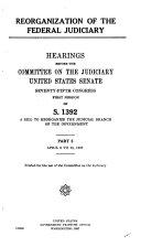 Reorganization of the Federal Judiciary