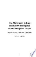 The Mercyhurst College Institute of Intelligence Studies Wikipedia Project