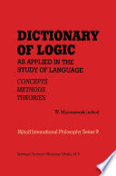 Dictionary of Logic as Applied in the Study of Language