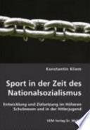 Sport in der Zeit des Nationalsozialismus