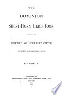 Canadian Shorthorn Herd Book Book
