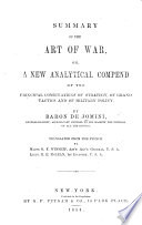 Summary of the art of war     Translated from the French by     O  F  Winship     E  E  McLean Book PDF