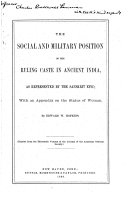 The Social and Military Position of the Ruling Caste in Ancient India