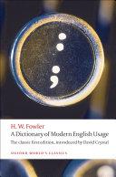 Pdf A Dictionary of Modern English Usage