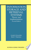 Information Storage and Retrieval Systems Book