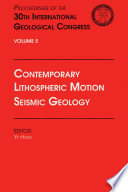 Contemporary Lithospheric Motion Seismic Geology