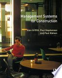 Management Systems For Construction Book PDF