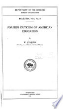 Foreign Criticism of American Education
