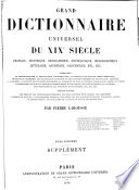 Grand Dictionnaire Universel Du Xixe Siecle Francais 1 2 Supplement 1878 90