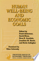 Human Well Being and Economic Goals Book