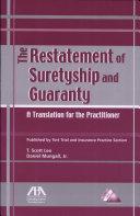 Restatement of Suretyship and Guaranty