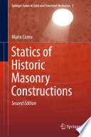 Book Cover: Statics of Historic Masonry Constructions