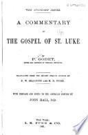 A Commentary On The Gospel Of St Luke