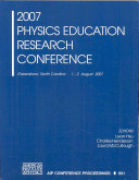 2007 Physics Education Research Conference Book