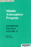 Middle Atmosphere Program  Ground based techniques