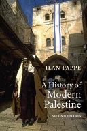A History of Modern Palestine