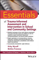 Essentials of Trauma-Informed Assessment and Intervention in School and Community Settings Pdf/ePub eBook