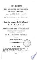 Bulletin des sciences historiques, antiquités, philologie