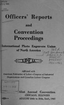 Officers Reports And Convention Proceedings