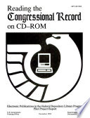 Reading The Congressional Record On Cd Rom Book