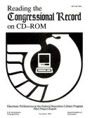Reading the Congressional Record on CD ROM