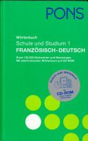 PONS Wörterbuch für Schule und Studium : Französisch - Deutsch, [Deutsch - Französisch]
