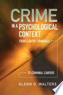 Crime in a Psychological Context Book