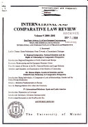 International And Comparative Law Review