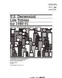 U S Decennial Life Tables For 1989 91 No 51
