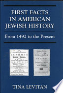 First Facts in American Jewish History