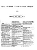 English Civil Engineer and Architect's Journal