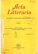Acta Litteraria Academiae Scientiarum Hungaricae Book PDF
