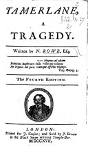 Tamerlane     The third edition