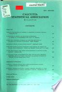 Calcutta Statistical Association Bulletin