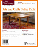 Fine Woodworking s Arts and Crafts Coffee Table Plan