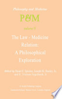 The Law-Medicine Relation: A Philosophical Exploration