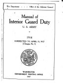 Manual of Interior Guard Duty  United States Army  1914