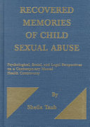 Recovered Memories of Child Sexual Abuse Book
