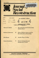 Journal of Social Reconstruction