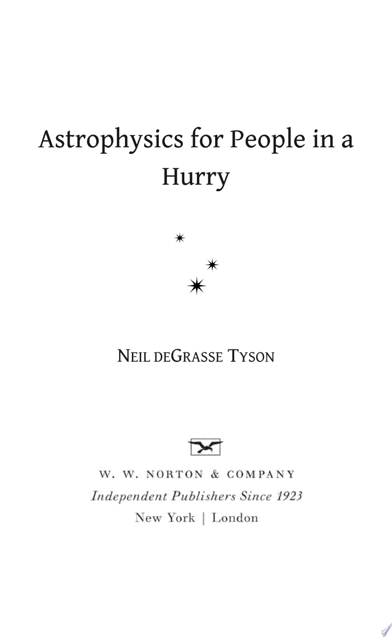 Astrophysics for People in a Hurry image