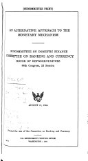 Hearings Reports And Prints Of The House Committee On Banking And Currency