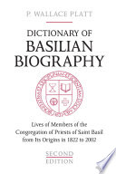 Dictionary of Basilian Biography