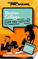 Boston College College Prowler Off the Record