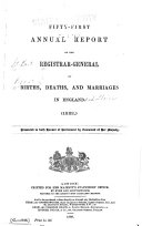 Pdf Annual Report of the Registrar-General of Births, Deaths and Marriages in England