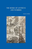 The Books of Leviticus and Numbers