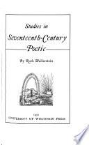 Studies in Seventeenth-century Poetic