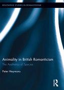 Animality in British Romanticism