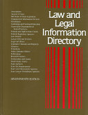 Law and Legal Information Directory Book