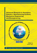 Advanced Research in Aerospace  Robotics  Manufacturing Systems  Mechanical Engineering and Bioengineering