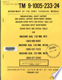 Organizational  Direct Support And General Support Maintenance Manual Including Repair Parts And Special Tools List  Including Depot Maintenance Repair Parts And Special Tools  For Machine Gun  7 62 Mm  M73  1005 869 8816    Machine Gun  7 62 Mm  M73A1  1005 937 7323    Machine Gun  7 62 Mm  M219  1005 077 2354